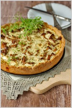 Mushrooms, Leeks and Feta Cheese Savory Tart - recipe is not in English