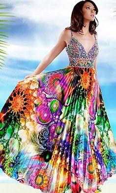 Exotic Print Prom Dress with Sequined Torso by Jovani Classy Wedding Dress, Maxi Dress Wedding, Colored Wedding Dresses, Classy Dress, Jovani Dresses, Prom Dresses, Summer Dresses, International Clothing, Maxi Styles