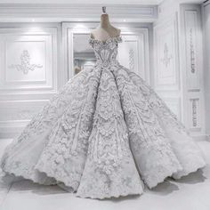 Robe De Mariage Princess Wedding Dress Luxurious Chapel Train Vestido De Novia Satin With Beading Ball Gown Wedding from AzonGal Bridal Store. Dream Wedding Dresses, Wedding Gowns, Wedding Dressses, Weeding Dress, Quinceanera Dresses, Prom Dresses, Evening Dresses, Sexy Dresses, Dresses 2016
