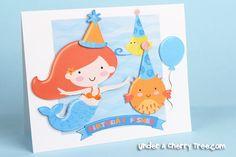 Mermaid print-and-cut card by Jin Yong