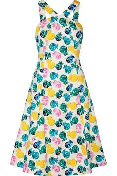 Draper James | Printed cotton-blend dress | NET-A-PORTER.COM