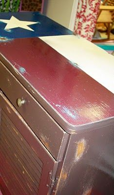 Texas flag sideboard - Possibly for drawer chest in the yard