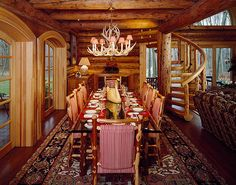 log cabin kitchen and dining room designs | Kitchen & Dining