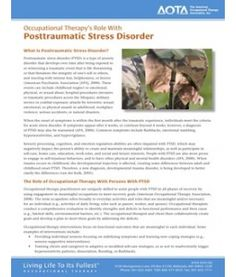 Occupational Therapy's Role With Posttraumatic Stress Disorder Fact Sheet Types Of Anxiety Disorders, Stress Disorders, Psychology Major, Acute Care, Hand Therapy, Occupational Therapist, Post Traumatic, Ptsd, Pediatrics