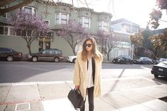 THE SHADY SIDE: street style inspirations: that cream furry sheep fur coat