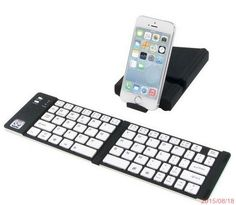 b3ed47dd805 iwerkz Universal Foldable Bluetooth Keyboard 44 Hour Run Time Black