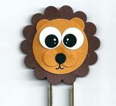 Stampin' Up Lion Punch Art Bookmark