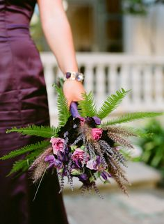 Fern-Rose-Lavender-Aubergine-Purple-Pink-Bouquet