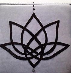 tattoo ideas, lotus tattoo, celtic knots, knot lotus, flower tattoos