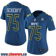 Women's Washington Redskins #75 Brandon Scherff Navy Blue NFC 2017 Pro Bowl Stitched NFL Nike Game Jersey
