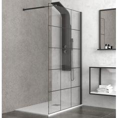 Bathroom Medicine Cabinet, Bathroom Styling, Black Brick, Modern Shower, Glass Shower, Shower Enclosure, Simple Bathroom Renovation, Bathroom Decor, Bathroom Renovations