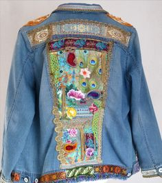 Denim jacket oriental/boho style