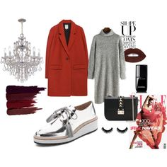 A fashion look from March 2016 featuring Zara coats, Loeffler Randall oxfords and Valentino shoulder bags. Browse and shop related looks.