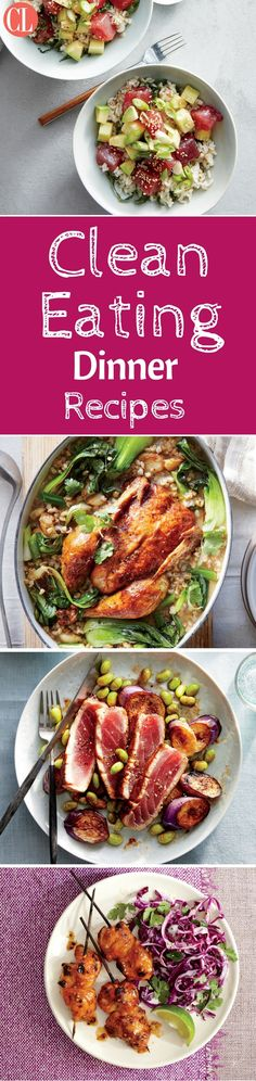 Clean eating dinner recipes are affordable and can be enjoyed by the whole family. Set the table with meals that are made with real ingredients, absolutely no processed foods, and no added sugar. Everything can be picked up at your local grocery store, and dinner will be done within an hour. These easy dinner recipes focus on real food with bold flavors and a quick turnaround in the kitchen to make dinner tonight more enjoyable. | Cooking Light