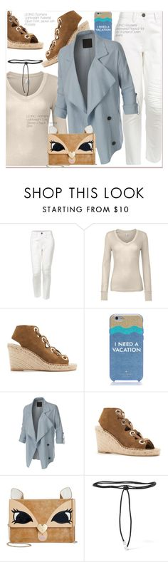 """I nead a vacation"" by paculi ❤ liked on Polyvore featuring LE3NO, Kate Spade, Betsey Johnson, Aamaya by priyanka and le3no"