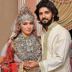Moroccan bride and groom. Tetouan traditions; Arabian and Andalucian traditions.