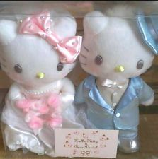Rare Wedding Hello Kitty x Daniel 2 set Plush Doll Japan Limited Cute Sanrio New