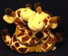 Fiesta Hugging Giraffes Plush Stuffed Animal Best Friends Fur-Ever Lovey #Fiesta
