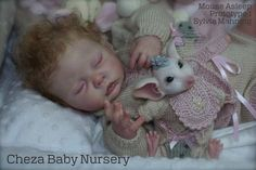Mouse Asleep & Mascot by Sylvia Manning - Online Store - City of Reborn Angels Supplier of Reborn Doll Kits and Supplies