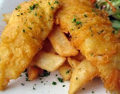 Beer Battered Fish'N'Chips with New Planet Beer