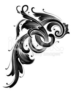 Delicate Scroll Element royalty-free stock vector art