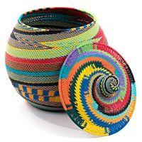 Zulu Wire Baskets - Lidded Pot23706