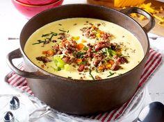 Käse-Lauch-Suppe mit Hack - so geht's | LECKER
