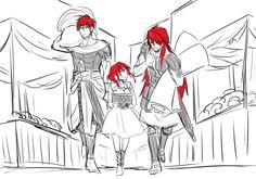 The Three Fanalis - Morgiana, Masrur, and Muu