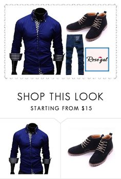 """""""Rosegal 32: For Men"""" by die-ammy ❤ liked on Polyvore featuring men's fashion and menswear"""