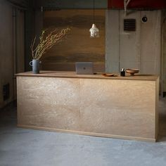 Service Counter, Cafe Concept, Warehouse Conversion, Boutique Interior, Cool Tones, Commercial Design, Scandinavian Interior, Joinery, Interior Design