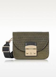 FURLA Salvia Leather Metropolis Gilda Mini Crossbody Bag. #furla #bags #shoulder bags #hand bags #leather #crossbody #lining #