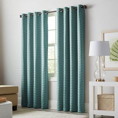 Allen + Roth Taventry 84 In Mineral Polyester Grommet Blackout Thermal  Lined Single Curtain Panel