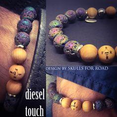 SFR diesel touch Skull Bracelet, Beaded Bracelets, Diesel, Skulls, Jewelry, Jewlery, Jewels, Jewerly, Diesel Fuel