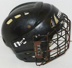 """ITECH HC15 ICE OR ROLLER HOCKEY PLAYERS BLACK HELMET HC 15 & WIRE CAGE 22""""-24"""" #Itech"""