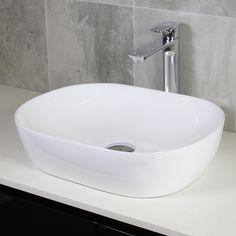 Buy Omega Rectangle Bench Mount Basin from Highgrove Bathrooms. Leaders in bathroom, kitchen and wet area design. Vanity Basin, Bathroom Basin, Bathroom Renos, Bathroom Ideas, Upstairs Bathrooms, Dream Bathrooms, Downstairs Bathroom, Basin Design, Modern Bench