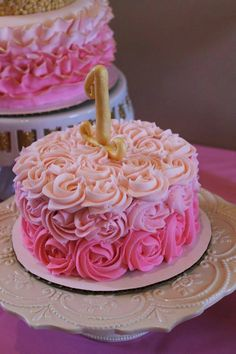 Pink And Gold Birthday Cake White And Pink Buttercream Striped Cake With A Hand Painted Name. Pink And Gold Birthday Cake I Heart Baking Pink Sprinkles Birthday Cake With Gold Birthday Topper. Pink And Gold Birthday Cake Pink And Gold… Continue Reading → Baby Girl 1st Birthday, First Birthday Cakes, First Birthday Parties, Birthday Ideas, Pink And Gold Birthday Party, Birthday Signs, Flower Birthday, Gold Party, 1st Birthdays