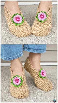 Crochet Sweet Simple Slippers Free Pattern - #Crochet Women Slippers Free Patterns