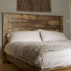 Rustic Headboard Diy, Diy Headboards, Diy Furniture Projects, Diy Projects, Beautiful Bedrooms, Sweet Home, Beds, Farmhouse, Home Decor