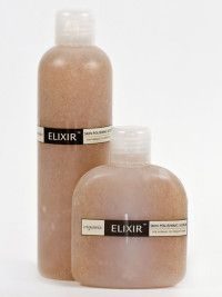Skin Polishing Scrub. This gentle gel-like exfoliator with pure plant granules removes impurities and dead skin cells.