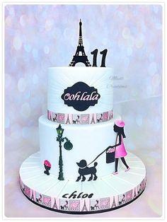 Paris Birthday Cakes, Paris Themed Cakes, Paris Themed Birthday Party, 12th Birthday Cake, Paris Cakes, Birthday Cakes For Women, Birthday Cake Girls, Paris Party, Lps Cakes