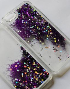 The LIQUID GLITTER Case PURPLE iPhone 6 by ANTIapparel on Etsy