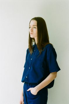 Essential Short Sleeve Shirt - Indigo