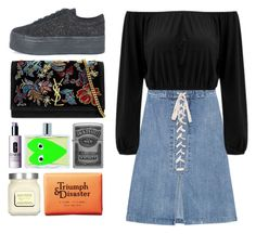 """4.729"" by katrina-yeow ❤ liked on Polyvore featuring Sea, New York, Zippo, Jeffrey Campbell, Yves Saint Laurent, Comme des Garçons, Triumph & Disaster, Laura Mercier and Clinique"