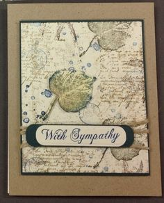 Sympathy card by skitter - Cards and Paper Crafts at Splitcoaststampers