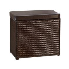 Lamont Home Carter Bench Wicker Laundry Hamper with Coordinating Padded Vinyl Lid, Chocolate by Lamont Home. $49.99. Made from high-quality paper wicker creates a hamper that's beautiful and durable enough to withstand frequent and heavy use. Carter apartment size hamper, upright hamper, family hamper and coordinating waste baskets also available on amazon. Conveniently cleans up with a simple wipe of a damp sponge or cloth; To ensure high quality and durability...