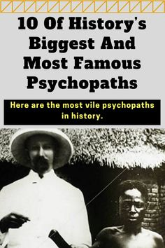 #trivia- peoplehistory. 10 Of History's Biggest And Most Famous Psychopaths 😱😱