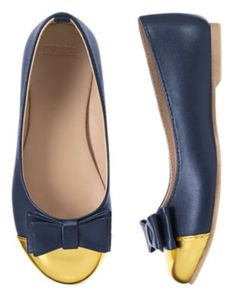 a5ec778bdb3a Girls Nautical Navy Bow Toe Cap Flats by Gymboree. imported and Collection  Name  Cape Cod Cutie.