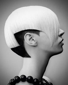 Woman crazy short hair