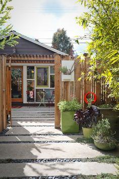 LA Garage turned into Cottage Outbuilding ; Gardenista