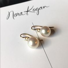 Pearl earrings with diamonds unique designer jewelry nyc brooklyn